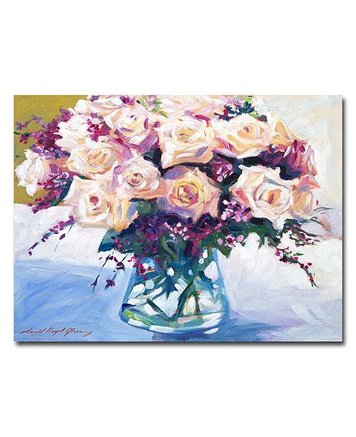"Trademark Global David Lloyd Glover 'Roses in Glass' Canvas Art - 24"" x 18"""
