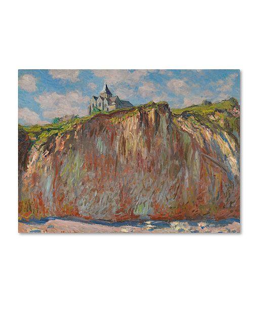 """Trademark Global Claude Monet 'Church at Varengeville' Canvas Art - 14"""" x 19"""""""