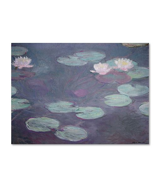 "Trademark Global Claude Monet 'Pink Lilies 1897-1899' Canvas Art - 32"" x 24"""
