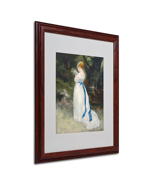 "Trademark Global Pierre Auguste Renoir 'Lady In White' Matted Framed Art - 20"" x 16"""