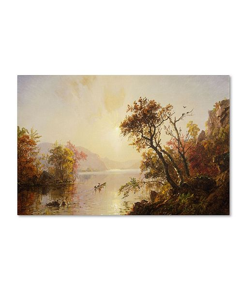 """Trademark Global Jasper Cropsey 'Rowing Out of a Cove 1878' Canvas Art - 32"""" x 22"""""""