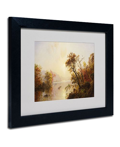 """Trademark Global Jasper Cropsey 'Rowing Out of a Cove 1878' Matted Framed Art - 14"""" x 11"""""""