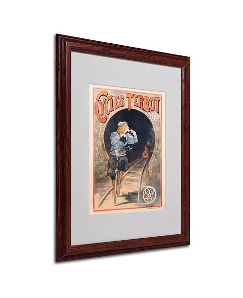 "Trademark Global 'Cycles Terrot 1900' Matted Framed Art - 20"" x 16"""