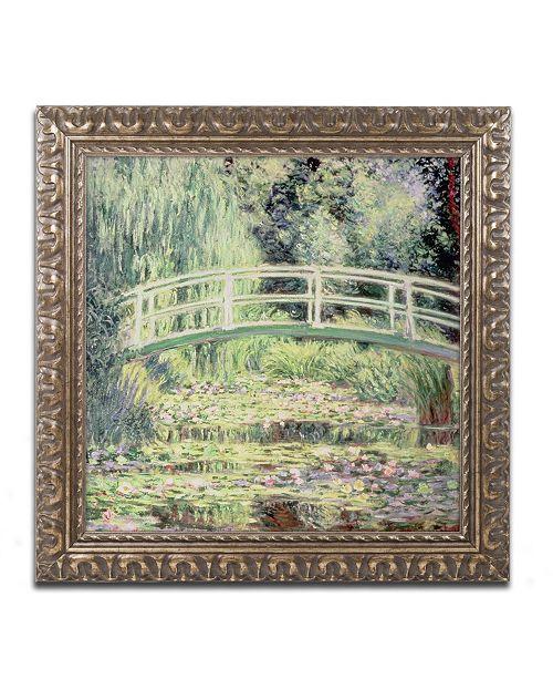 """Trademark Global Claude Monet 'White Nenuphars 1899' Ornate Framed Art - 11"""" x 11"""""""