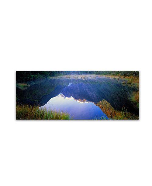 "Trademark Global David Evans 'Peters Pool-Franz Josef-NZ' Canvas Art - 32"" x 10"""