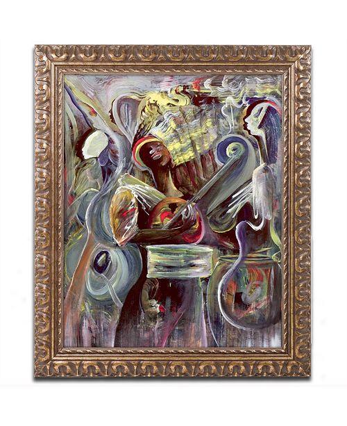 """Trademark Global Ikahl Beckford 'Pearl Jam' Ornate Framed Art - 14"""" x 11"""""""