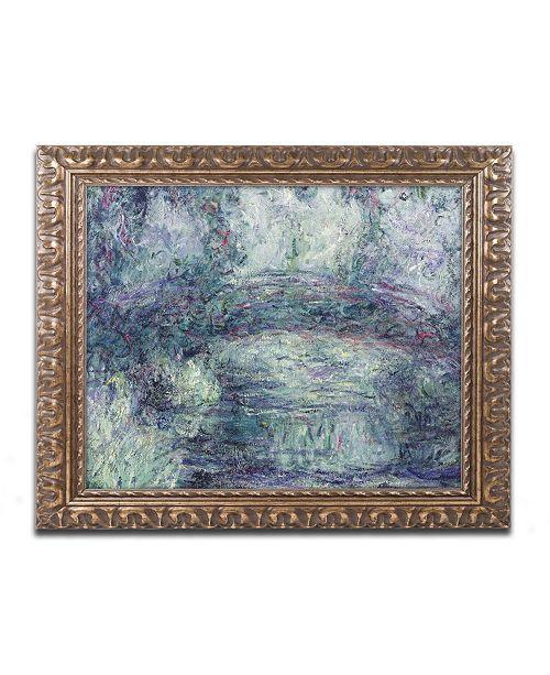 """Trademark Global Monet 'The Japanese Bridge III' Ornate Framed Art - 16"""" x 20"""""""