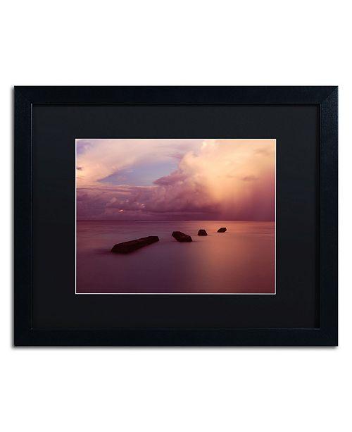 "Trademark Global David Evans 'Afterglow 2-Maldives' Matted Framed Art - 16"" x 20"""