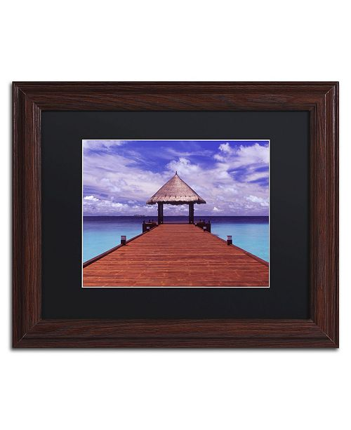 "Trademark Global David Evans 'Arrivals-Jumeirah Vittaveli' Matted Framed Art - 11"" x 14"""