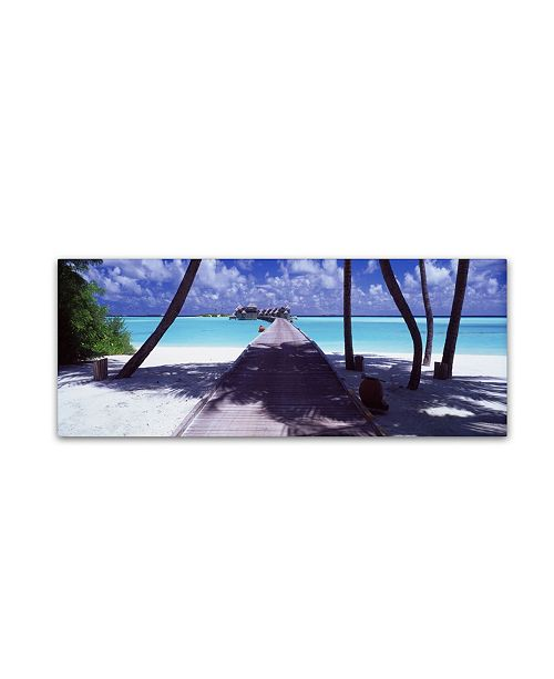 "Trademark Global David Evans 'Gateway to Paradise' Canvas Art - 16"" x 47"""