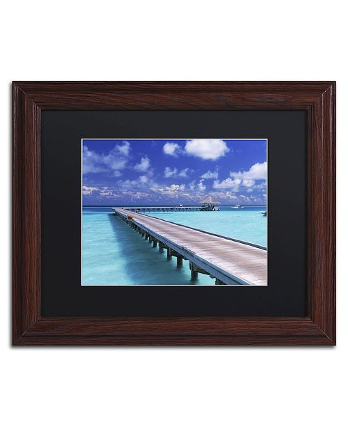 "Trademark Global David Evans 'The Jetty-Gili Lankanfushi' Matted Framed Art - 11"" x 14"""