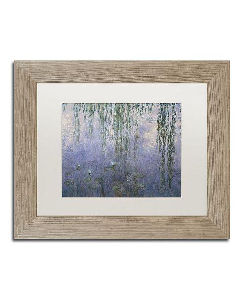 """Trademark Global Claude Monet 'Water Lilies III 1840-1926' Matted Framed Art - 11"""" x 14"""""""
