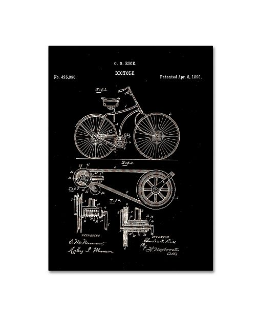 "Trademark Global Claire Doherty 'Bicycle Patent 1890 Black' Canvas Art - 18"" x 24"""