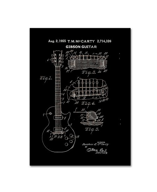 """Trademark Global Claire Doherty '1955 Mccarty Gibson Guitar Patent Black' Canvas Art - 18"""" x 24"""""""
