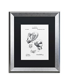 """Claire Doherty 'Boxing Gloves Patent 1894 White' Matted Framed Art - 16"""" x 20"""""""