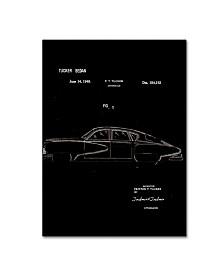 "Claire Doherty 'Tucker Sedan Patent 1949 Black' Canvas Art - 35"" x 47"""