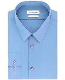 Men's Extra-Slim Fit 360º Contour Stretch Wrinkle-Free Solid Dress Shirt