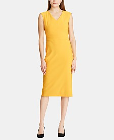 Lauren Ralph Lauren Cap-Sleeve Crepe Dress