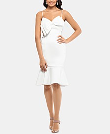 Satin Bow A-Line Dress