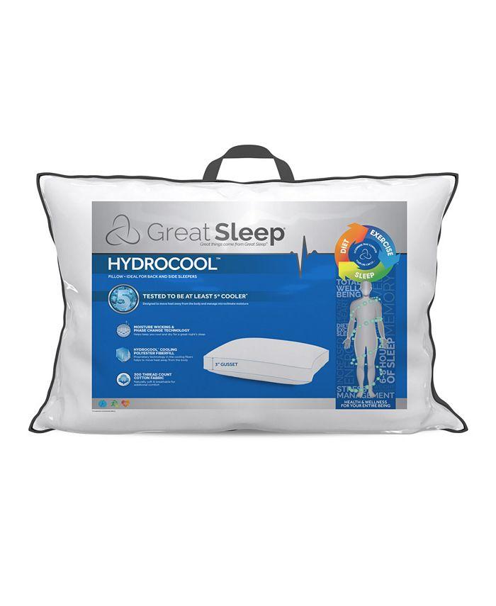 """Great Sleep - 5 Degree Hydrocool 3"""" Standard/Queen Pillow"""