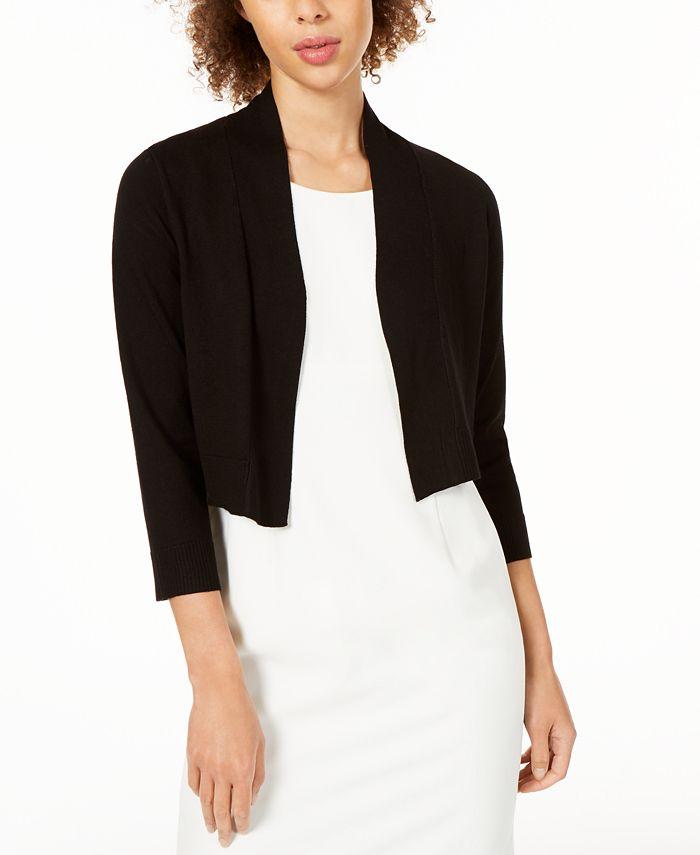 Calvin Klein - Long-Sleeve Open Cropped Cardigan