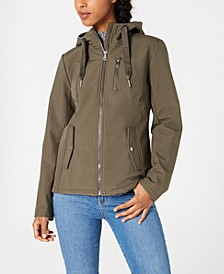 Juniors' Water Resistant Hooded Jacket