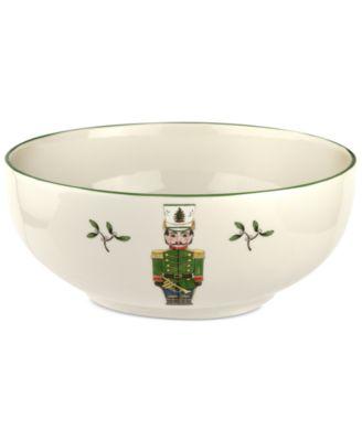 Christmas Tree Nutcracker Bowl