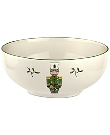 Christmas Tree Nutcracker Bowl