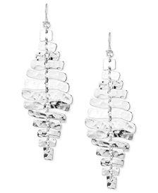 Robert Lee Morris Soho Earrings, Silver-Tone Sculptural Rectangle Linear Earrings