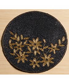 St. Croix KINDWER Glass Beaded / Gold-Tone Flower Placemat