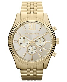Michael Kors Chronograph Lexington Collection Stainless Steel Bracelet Watches