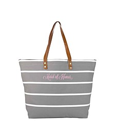 Maid Of Honor Striped Tote