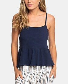 Roxy Juniors' High-Low Peplum Top
