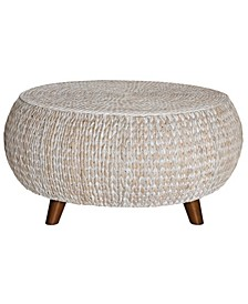 Bali Breeze Low Round Accent Table, Quick Ship