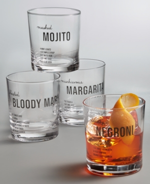 Closeout! The Cellar Recipe Double Old-Fashioned Glasses, Set of 4, Created for Macy's