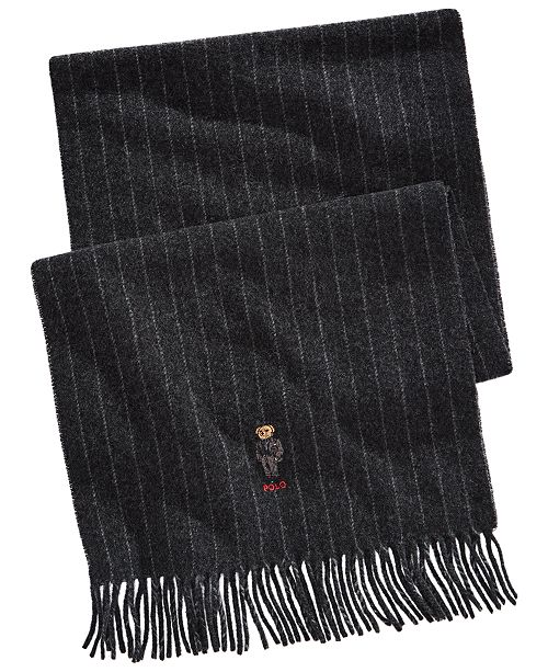 Polo Ralph Lauren Men's Striped Bear Scarf