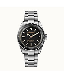 Scovill Automatic with Stainless Steel Case and Bracelet and Black Dial