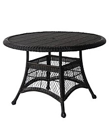 """Wicker 44"""" Round Dining Table"""