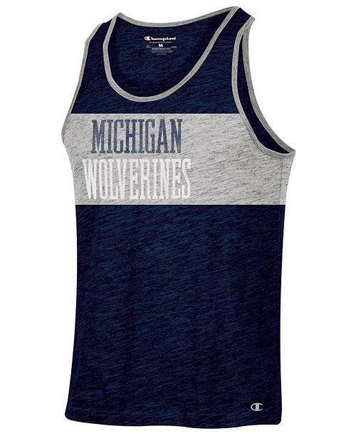 Champion Men's Michigan Wolverines Colorblocked Tank