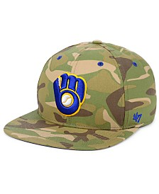 '47 Brand Milwaukee Brewers Blockade Strapback Cap