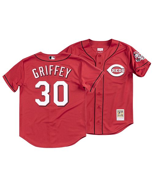 Mitchell & Ness Men's Ken Griffey Cincinnati Reds Authentic Cooperstown Jersey