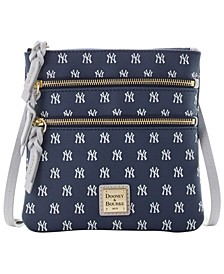 New York Yankees North South Triple Zip Purse