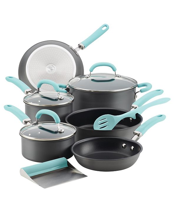 Rachael Ray Create Delicious Hard-Anodized Aluminum 11-Pc. Nonstick Cookware Set