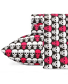Betsey Johnson Skulls Sheet Set, Twin XL