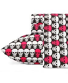 Betsey Johnson Skulls Sheet Set, Twin XL