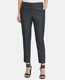 DKNY Petite Denim Essex Ankle Pants