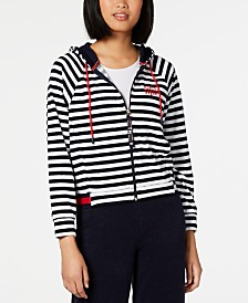 Tommy Hilfiger Striped Zippered Hoodie, Created for Macy's
