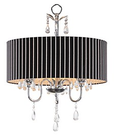 "Abbeville 3 Light Beaded 18""D Chandelier"