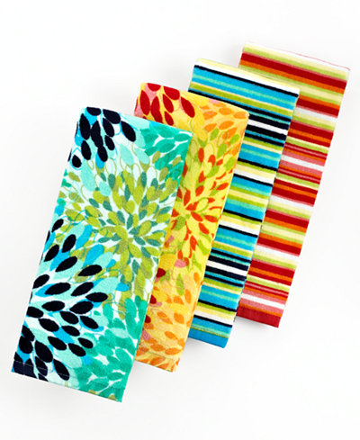 Fiesta Kitchen Towels, Calypso Floral or Stripe - Table Linens ...