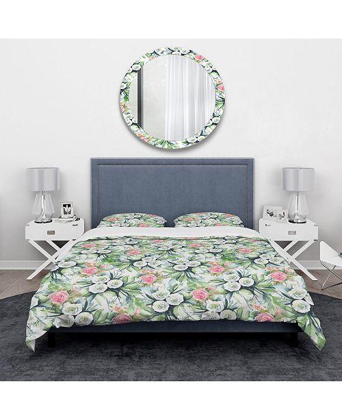Design Art Designart 'Wedding Flowers In White and Yellow Roses' Traditional Duvet Cover Set - King